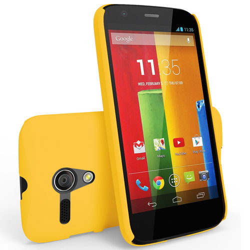 Hard Shell Feather Case for Motorola Moto G (1st Gen) - Yellow