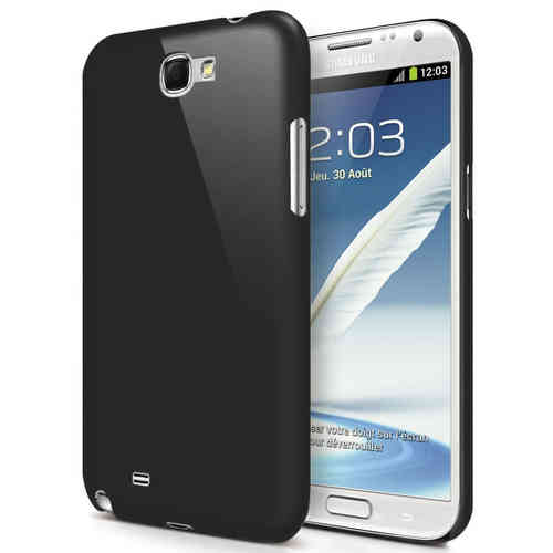 Feather Hard Shell Case for Samsung Galaxy Note 2 - Black (Matte)