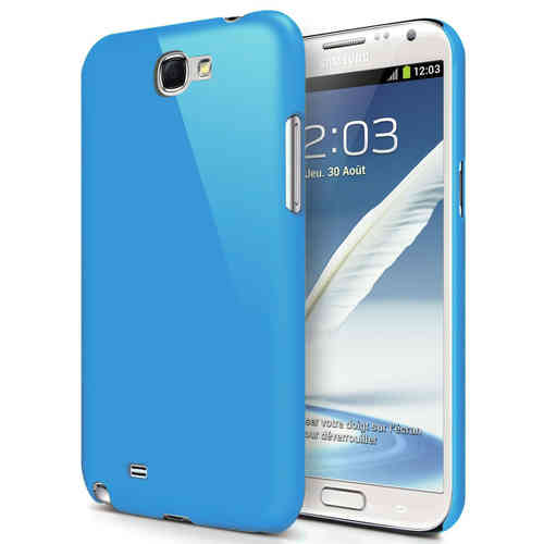 Hard Shell Feather Case for Samsung Galaxy Note 2 - Light Blue (Matte)