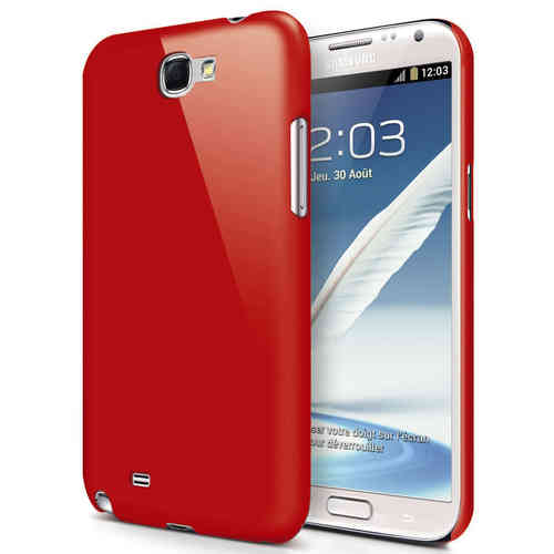 Hard Shell Feather Case for Samsung Galaxy Note 2 - Red (Matte)