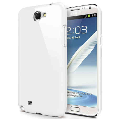 Hard Shell Feather Case for Samsung Galaxy Note 2 - White (Matte)