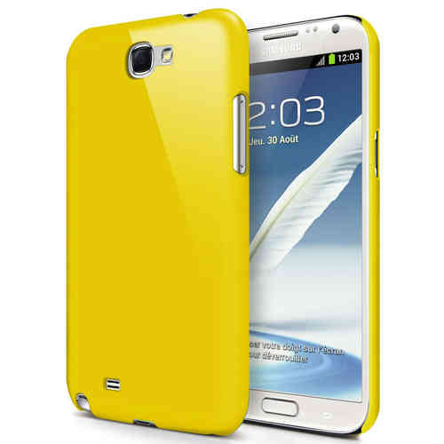 Hard Shell Feather Case for Samsung Galaxy Note 2 - Yellow (Matte)