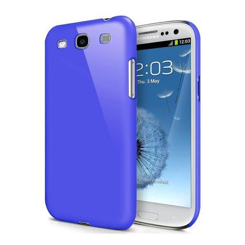Feather Hard Shell Case for Samsung Galaxy S3 - Dark Blue (Matte)