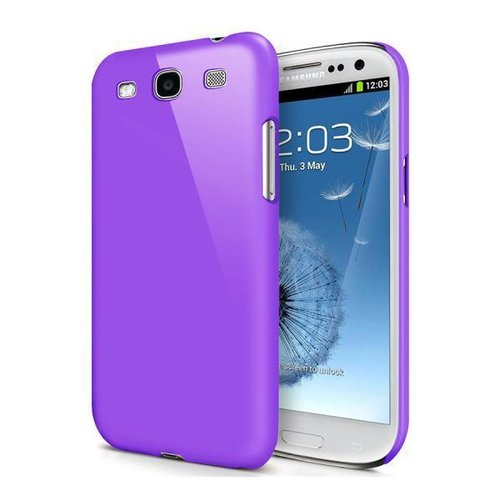 Feather Hard Shell Case for Samsung Galaxy S3 - Purple (Matte)
