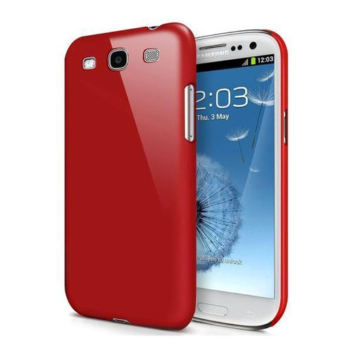 Feather Hard Shell Case for Samsung Galaxy S3 - Red (Matte)
