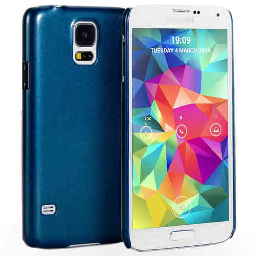 Metallic Hard Shell Slim Case for Samsung Galaxy S5 - Blue