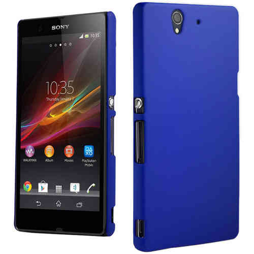 PolyShield Hard Shell Case for Sony Xperia Z - Dark Blue (Matte Grip)