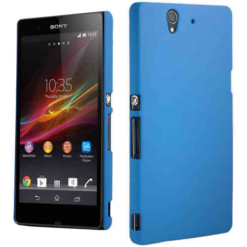 PolyShield Hard Shell Case for Sony Xperia Z - Sky Blue (Matte Grip)