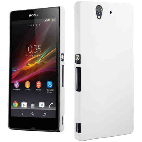 PolyShield Hard Shell Case for Sony Xperia Z - White (Matte Grip)
