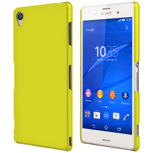 PolySnap Hard Shell Case for Sony Xperia Z3 - Yellow (Matte)
