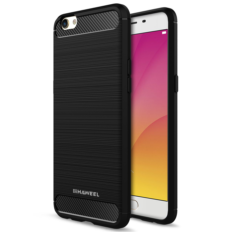 the latest 800e5 5a06c Haweel Flexi Slim Carbon Fibre Case for Oppo R9s Plus (Black)