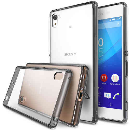 Hybrid Fusion Bumper Case for Sony Xperia Z3+ / Xperia Z4 (Smoke Black)