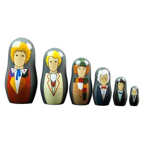 Ikon Collectables Doctor Who (1st to 6th) Nesting Dolls (6-Cup Set)