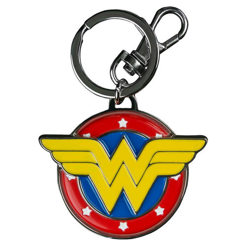 Ikon Collectables Keyring - Wonder Woman Logo Colour Enamel Keychain