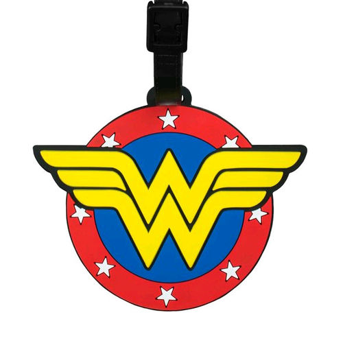 Ikon Collectables Wonder Woman Logo Travel Bag Luggage Tag