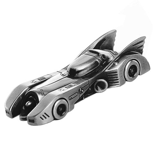 Batman 1989 Batmobile Pewter Keychain Keyring