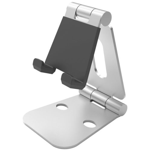Universal Aluminium Foldable Desktop Holder Stand for Phone & Tablet