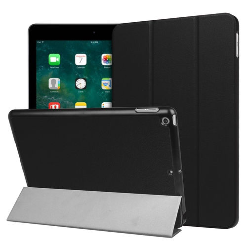Trifold Smart Case Stand for Apple iPad 9.7 Inch (2018 / 2017) - Black