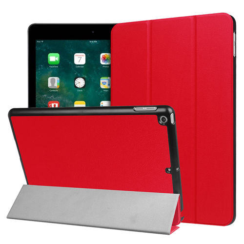 Trifold Smart Case Stand for Apple iPad 9.7 Inch (2018 / 2017) - Red