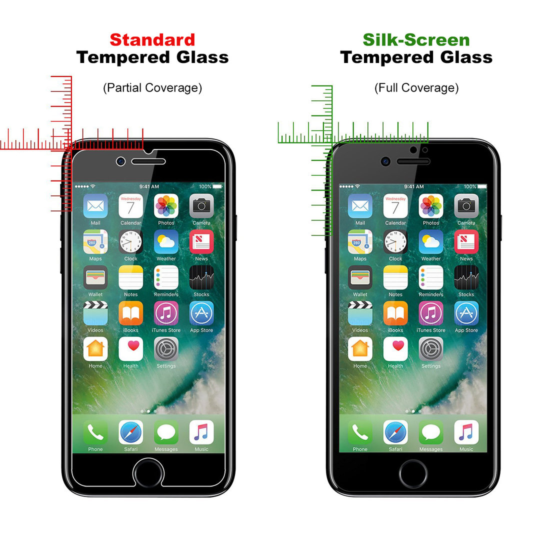 Full Tempered Glass Screen Protector - Apple iPhone 8 / 7