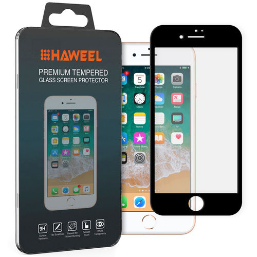 Full Fit Tempered Glass Screen Protector - Apple iPhone 8 / 7 - Black