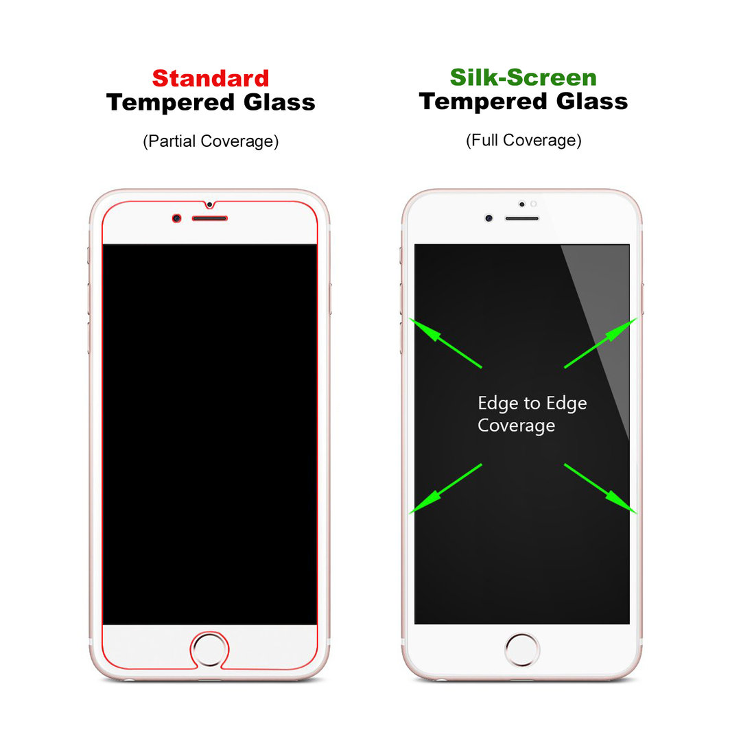 timeless design 9ac7e d0ce3 Full Tempered Glass Screen Protector - Apple iPhone 8 / 7 (White)