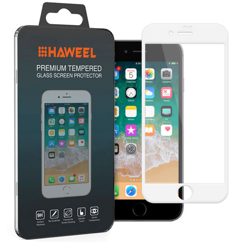 Full Fit Tempered Glass Screen Protector - Apple iPhone 8 / 7 - White