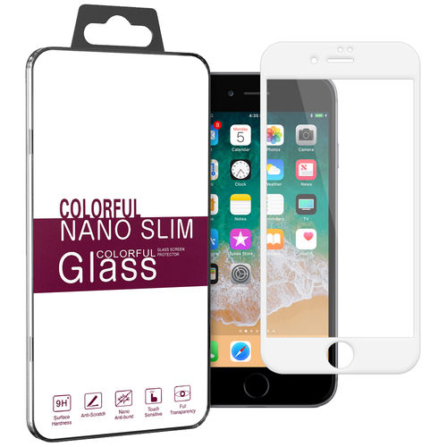Full Tempered Glass Screen Protector - Apple iPhone 8 / 7 Plus - White