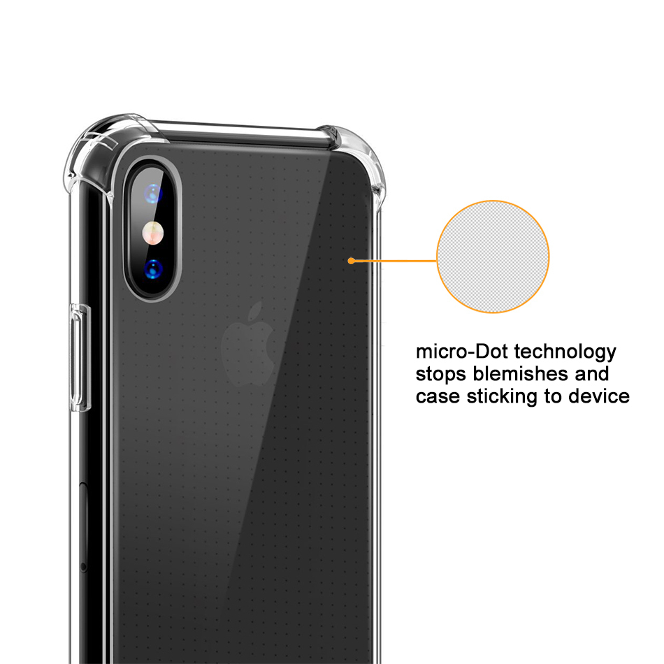 corners iphone case flexi shock air cushion corner apple iphone xs clear 3405