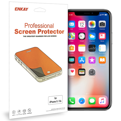 Enkay (2-Pack) Clear Film Screen Protector for Apple iPhone X / Xs