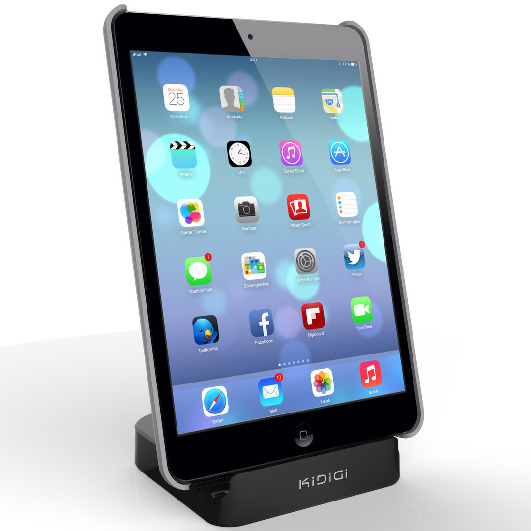 kidigi 2 4a charge sync dock apple ipad air 2 black. Black Bedroom Furniture Sets. Home Design Ideas