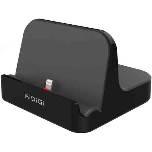 Kidigi 2.4A Charge & Sync Mfi Dock for Apple Lightning Devices - Black