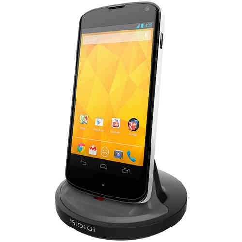 Kidigi 2A Rugged Case Dock / Charger Cradle for LG Google Nexus 4