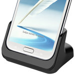 Kidigi Desktop Charge & Sync Cradle for Samsung Galaxy Note 2 - Black