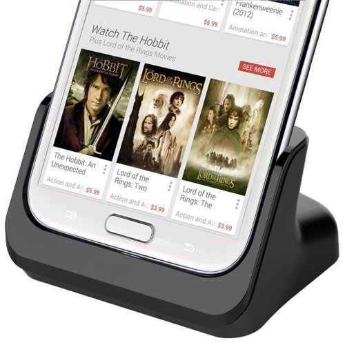 Kidigi HDMI Output Charging Cradle for Samsung Galaxy Note 2 - Black