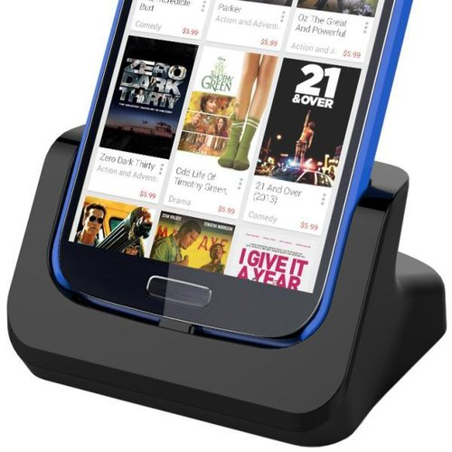 Kidigi HDMI Output Charging Cradle for Samsung Galaxy S4 - Black