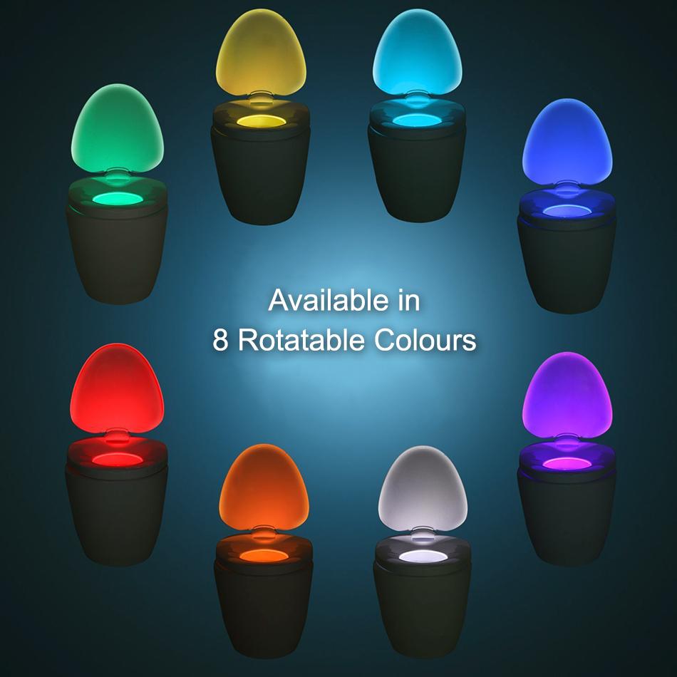 Smart Toilet Seat Bowl Led Motion Sensor Light Amp Night Lamp