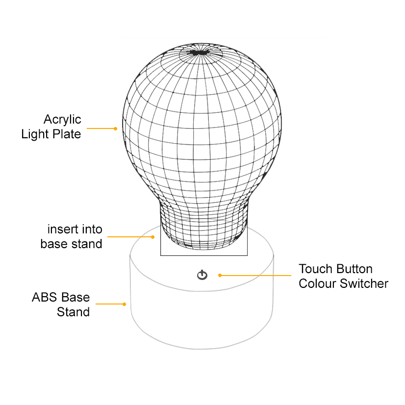 ... 3D Star Wars Death Star LED Desk Lamp Night Light (with Touch Switch)  ...