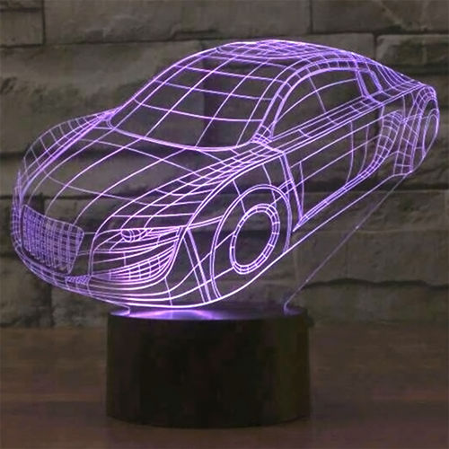 3D Sports Car LED Desk Lamp Night Light (with Touch Switch)