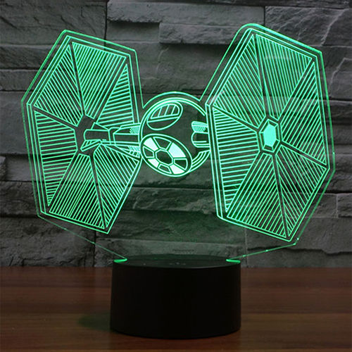 3D Star Wars Tie Fighter LED Desk Lamp Night Light (with Touch Switch)