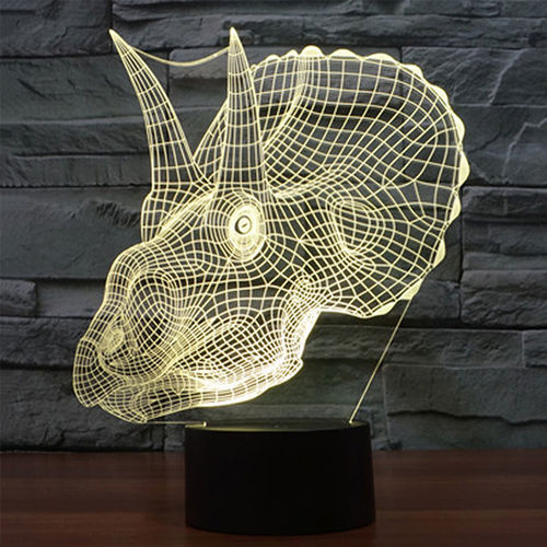 3D Dinosaur Head LED Desk Lamp Night Light (with Touch Switch)