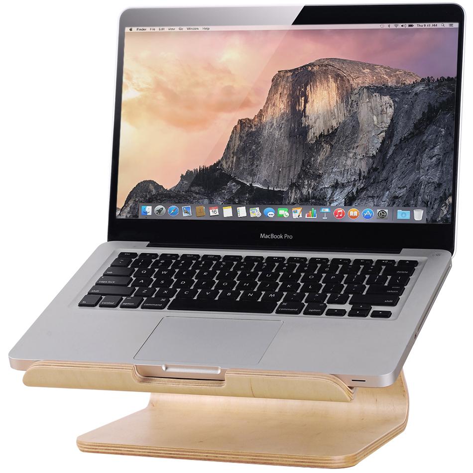 Samdi Large Wooden Desk Stand Holder - MacBook Laptop (Birch)