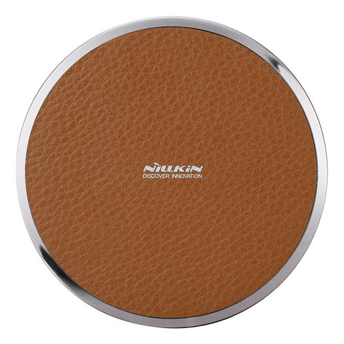 Nillkin Magic Disk III (5W) Qi Wireless Charging Pad - Brown Leather