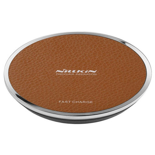 10W Nillkin Magic Disk III Qi Fast Wireless Charging Pad - Brown