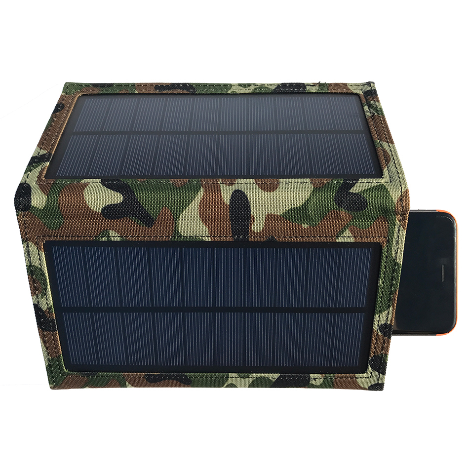 8w Outdoor Folding Solar Panel Charger For Phones Amp Tablets