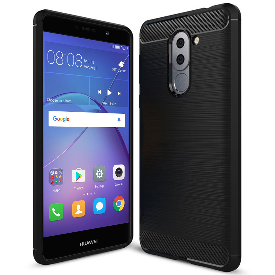 release date: d23cb 18ada Flexi Carbon Fibre Tough Case - Huawei GR5 2017 (Black)