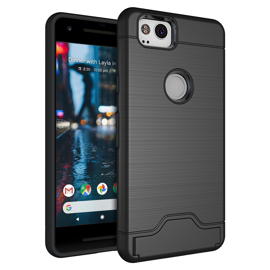 huge selection of e5aeb 7a972 Dual Armour Tough Case & Card Holder - Google Pixel 2 (Black)