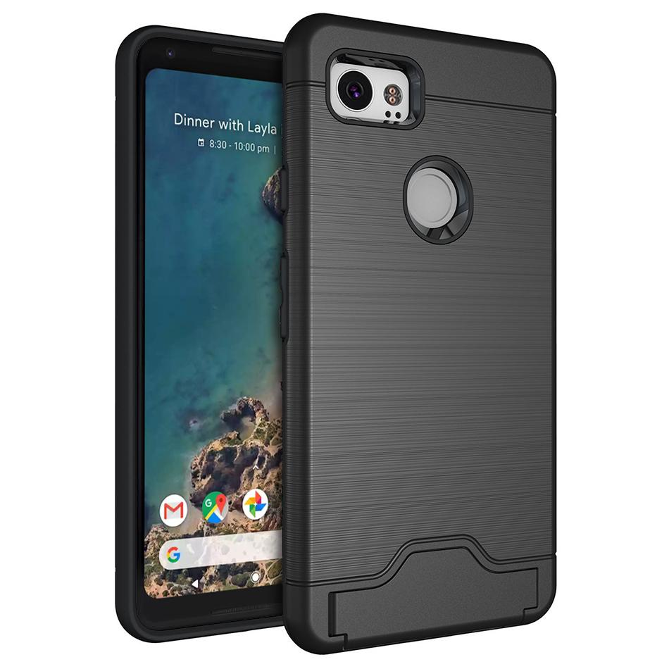 pick up d5a96 6b513 Dual Armour Tough Case & Card Holder - Google Pixel 2 XL (Black)