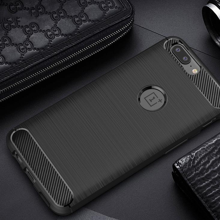 pretty nice a53b3 45200 Flexi Carbon Fibre Tough Case - OnePlus 5 (Black)