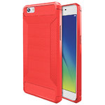 Flexi Carbon Fibre Tough Case for Oppo A57 - Brushed Red